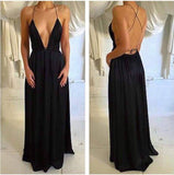 Sexy Black Prom Dress For Teens, Prom Dresses, Graduation School Party Gown, DT0209