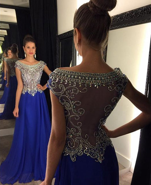 Royal Blue Prom Dress For Teens 2019, Prom Dresses, Graduation School Party Gown, DT0211