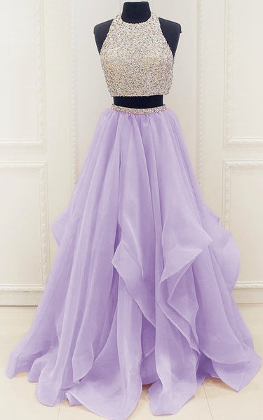 Prom Dress For Teens Two Pieces, Prom Dresses, Graduation School Party Gown, DT0214