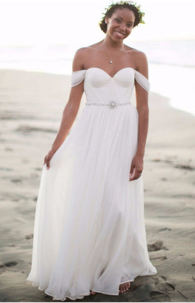 Simple Beach Wedding Dress, Dresses For Wedding, Bridal Gown ,Bride Dress, Dresses For Brides, PM0103