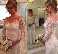 Mermaid  Wedding Dress With Sleeves, Bridal Gown ,Dresses For Brides, PM0050