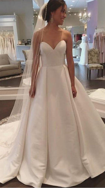 Satin Wedding Dress, Bridal Gown ,Dresses For Brides, PM0062