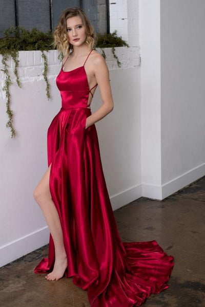 Sexy Prom Dresses High Slit, Dresses For Graduation Party, Evening Dress, Formal Dress, DT0495
