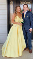 Yellow Prom Dress Long, Prom Dresses, Pageant Dress, Evening Dress, Ball Dance Dresses, Graduation School Party Gown, DT0678