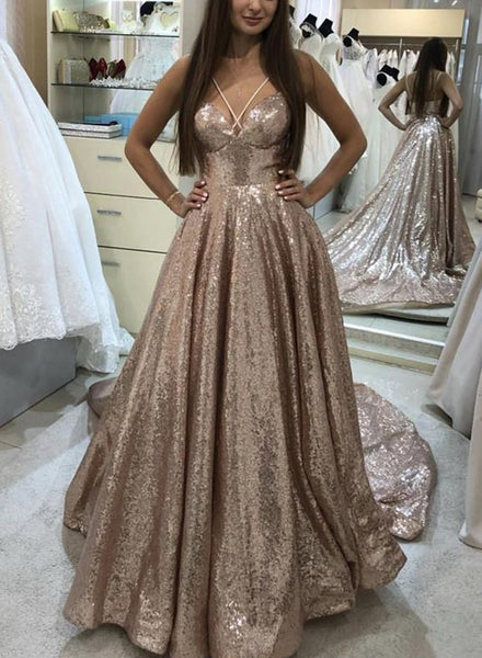 Sparkling Prom Dress Shinning Fabric, Special Occasion Dress, Evening Dress, Dance Dresses, Graduation School Party Gown, DT0711