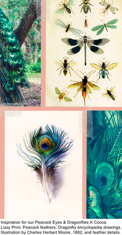 The inspiration behind our Peacock Eyes & Dragonflies X Cocoa Lizzy Print