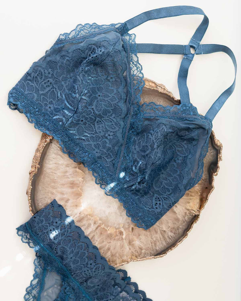 Lacey Easy Fit Bralette in Indigo