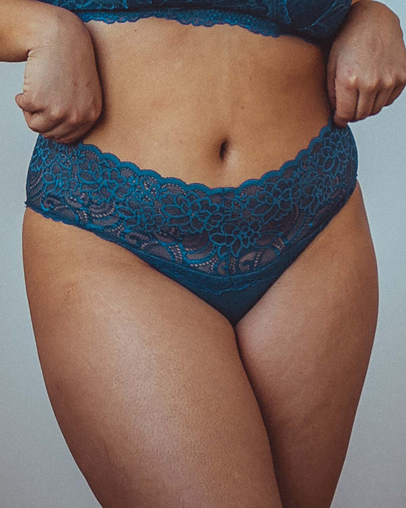 Lacey Undies in Indigo