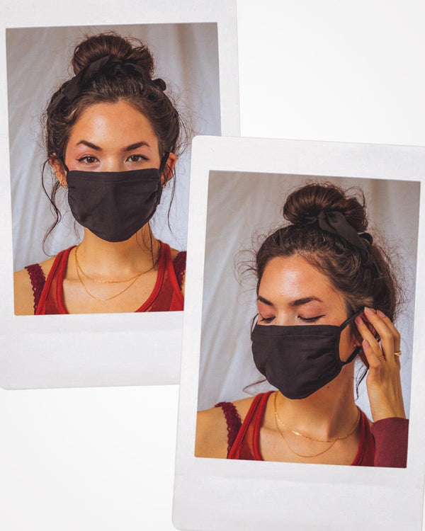 Pima Cotton Face Mask 2-pack in Black