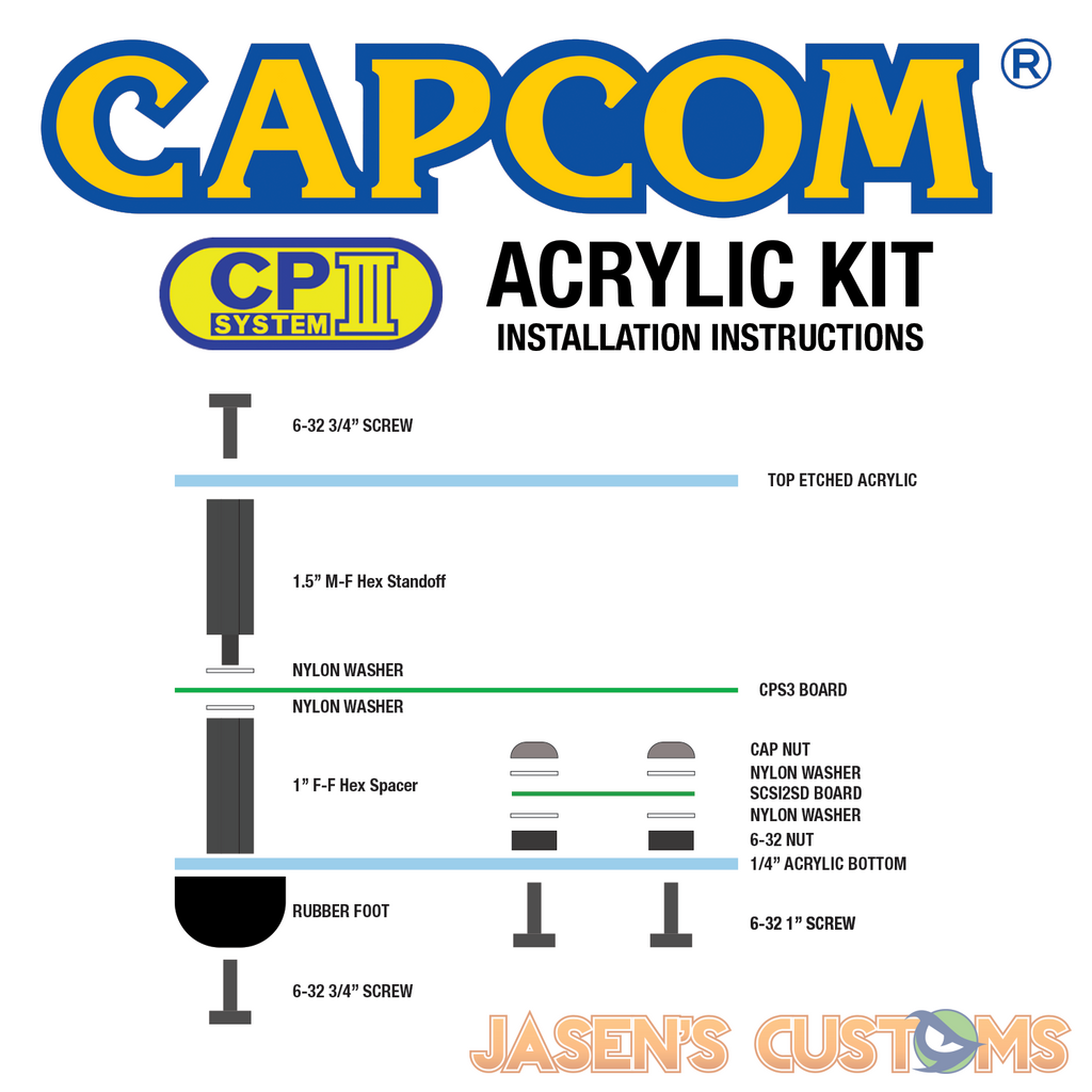 Capcom CPS3 Acrylic Case-Accessory-Jasen's Customs-Jasen's Customs