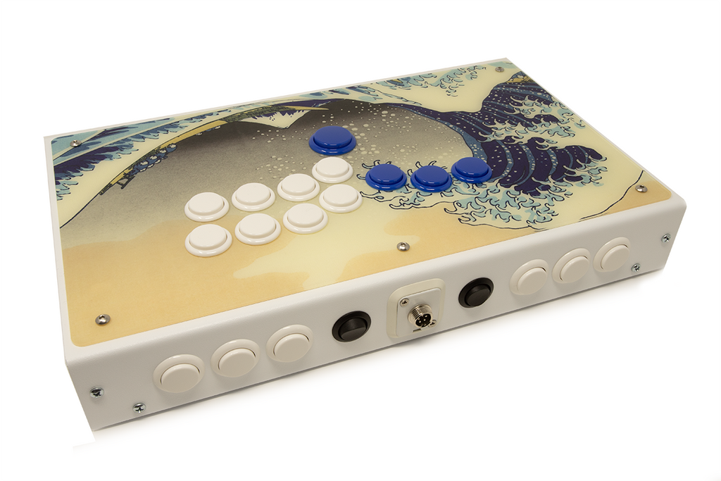 Fully Built: Panzer Fight Stick 3 Hitbox [The Great Kanagawa Wave]-Jasen's Customs
