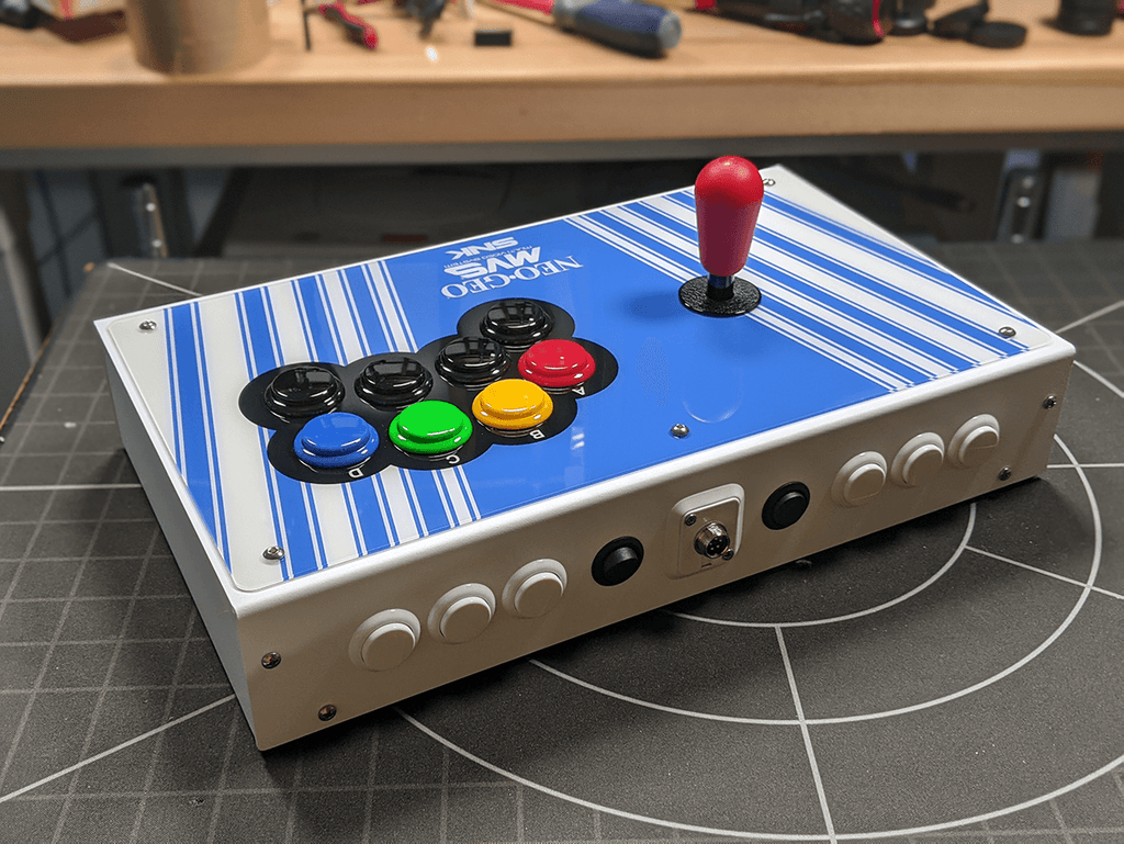 Fully Built: Panzer Fight Stick 3i [NEO-GEO Cabinet Inspired]-Jasen's Customs