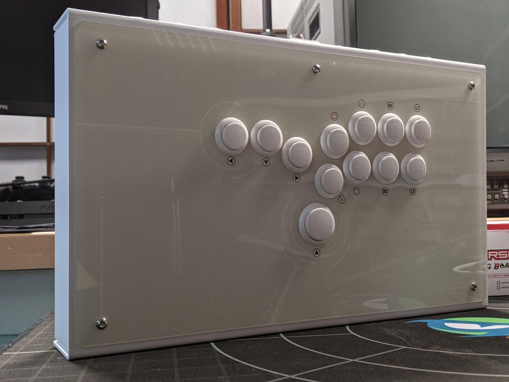 Fully Built: Panzer Fight Stick Aluminium Hitbox [TE Inspired Artwork]-Jasen's Customs