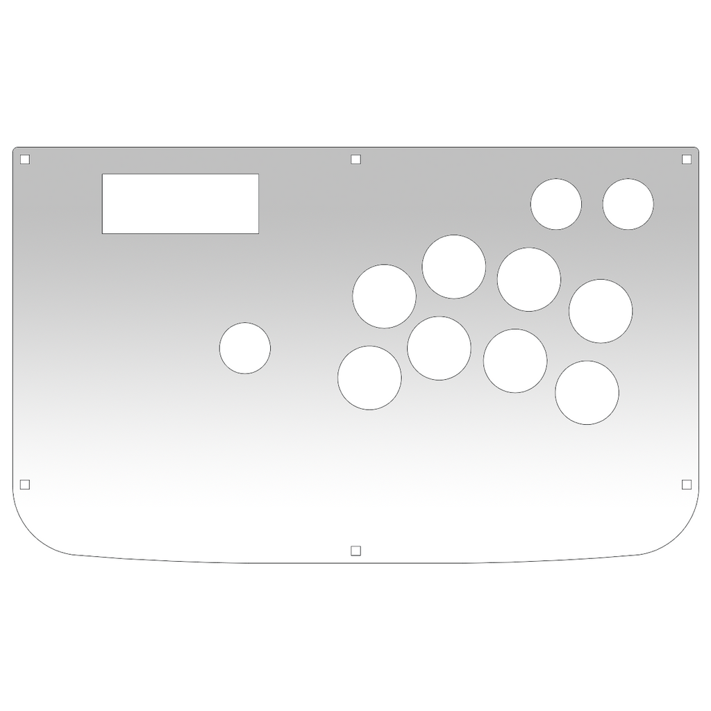 Hori HRAP3 - 1L8B Type N Plexi Overlay-Plexi-Jasen's Customs - Plexi Shop-Jasen's Customs