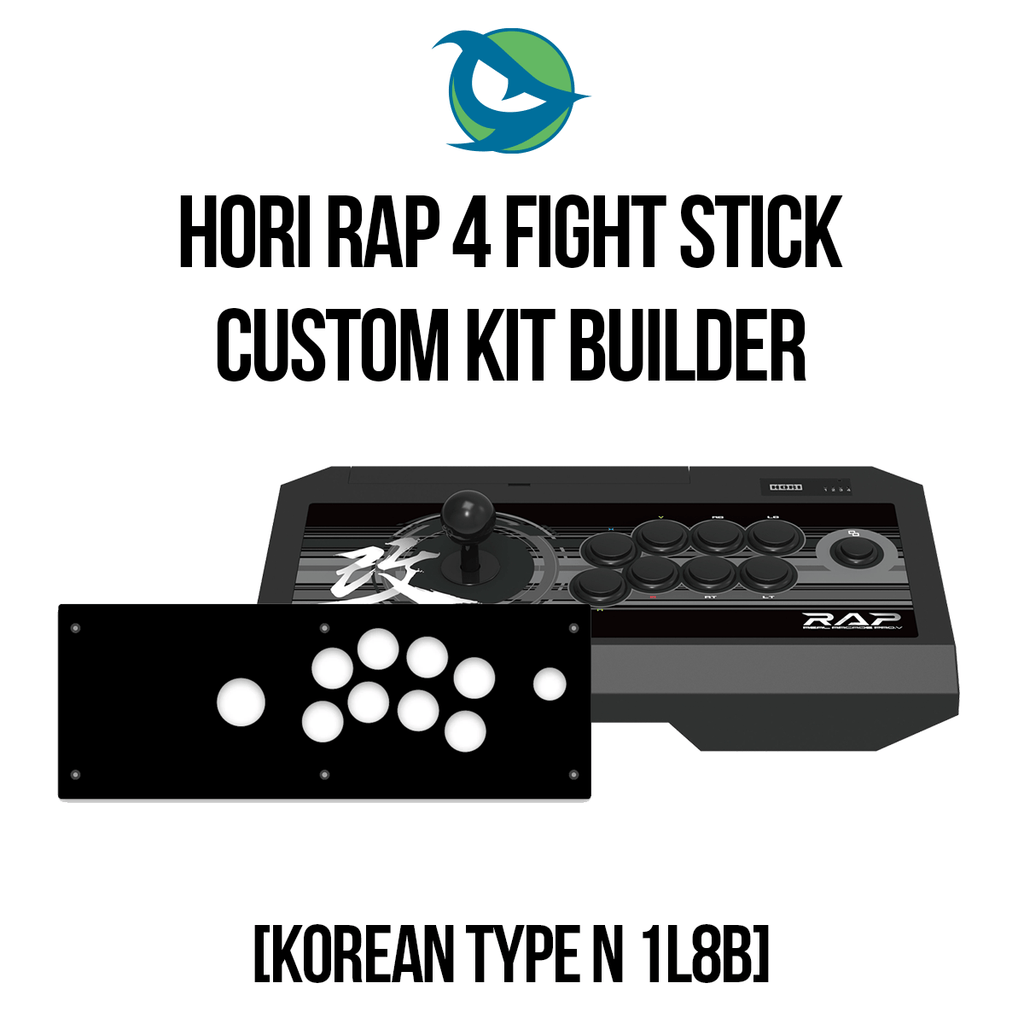 Hori RAP4 Type N 1L8B - KOREAN STICK Conversion Kit-Custom Bundle-HORIRAP4_-Jasen's Customs