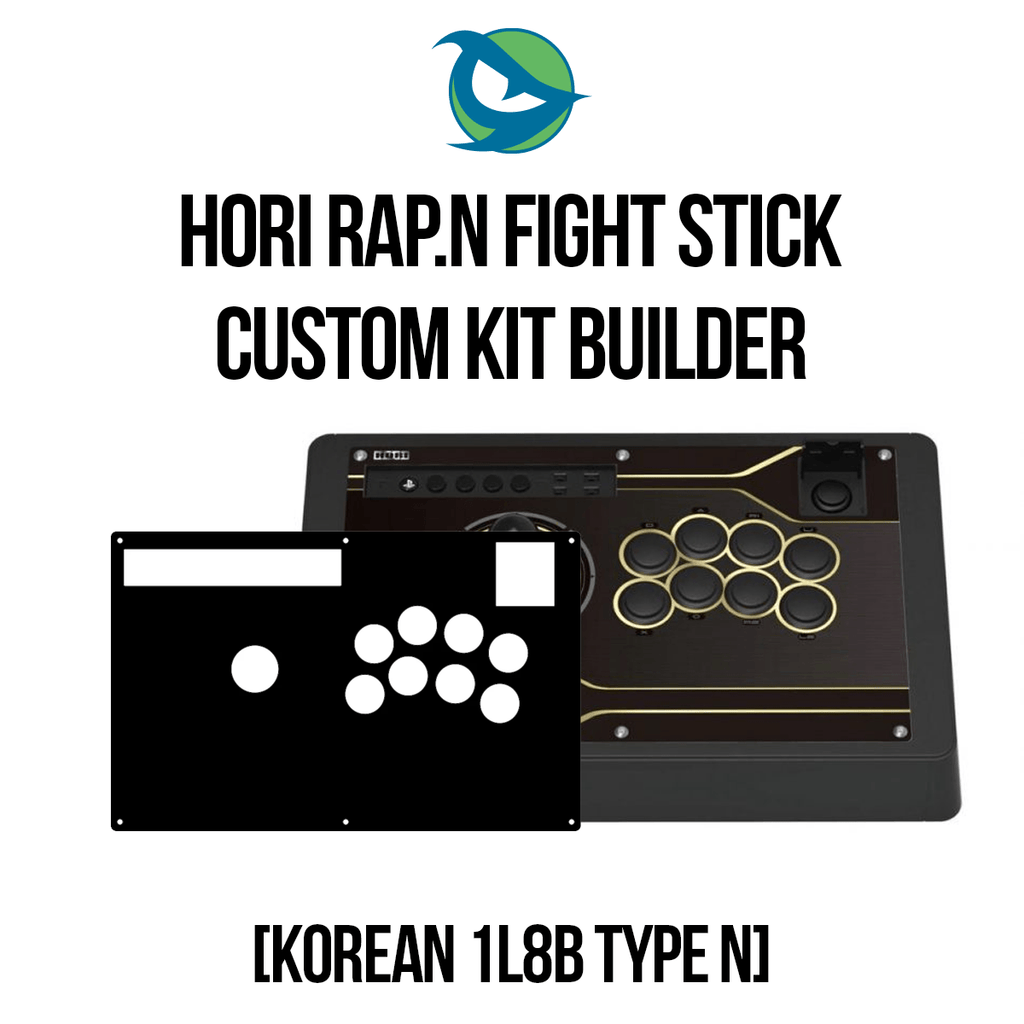 Hori RAP.N Type N 1L8B - KOREAN STICK Conversion Kit-Custom Bundle-HORIRAPN_-Jasen's Customs