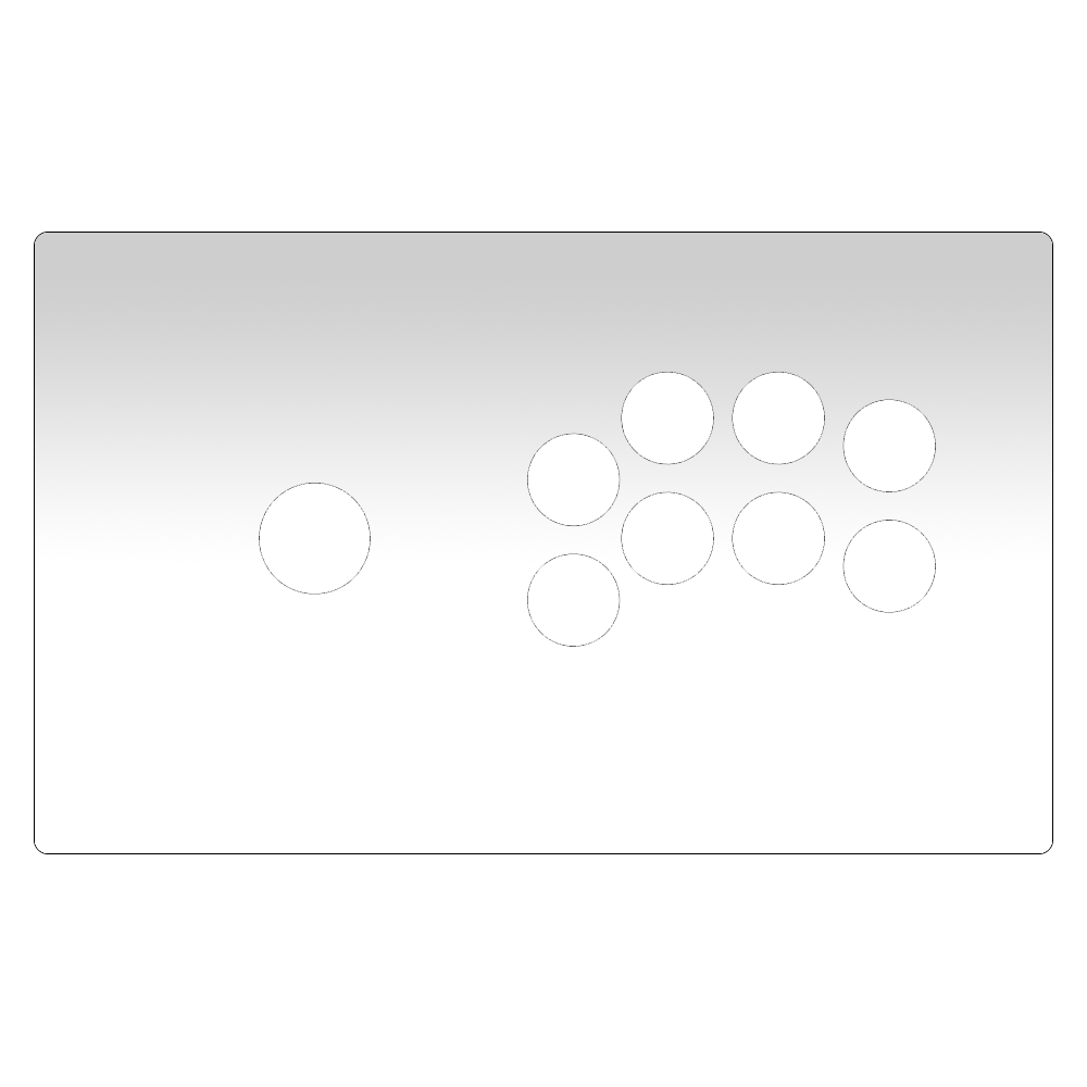 Madcatz TE2/TE2+ Sega P2 Panel Plexi [Korean Levers]-Jasen's Customs - Plexi Shop-Jasen's Customs