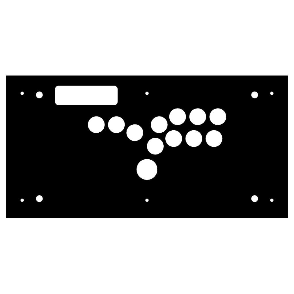 Madcatz VS Hitbox Replacement Panel-Fight Stick Panel-Jasen's Customs - Metal Shop-Jasen's Customs