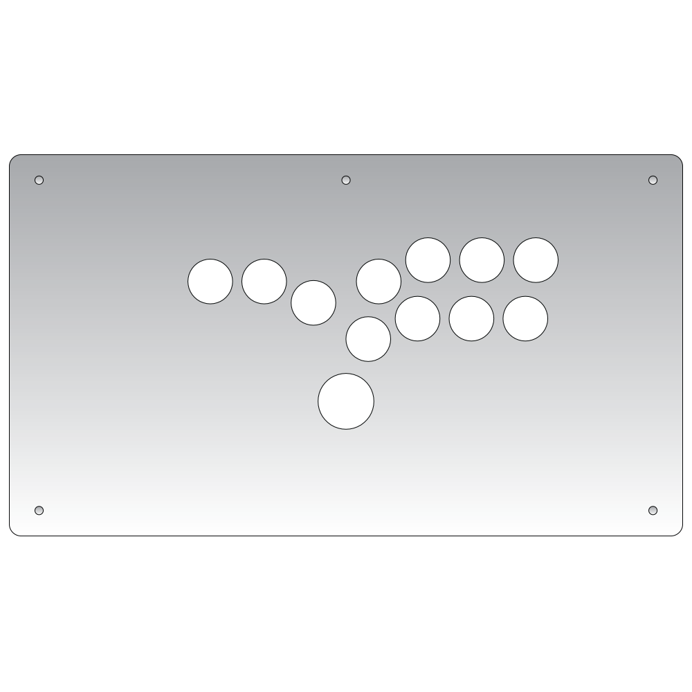 Panzer Fight Stick 3 Hitbox - Plexi Overlay-Plexi-Jasen's Customs - Plexi Shop-Jasen's Customs