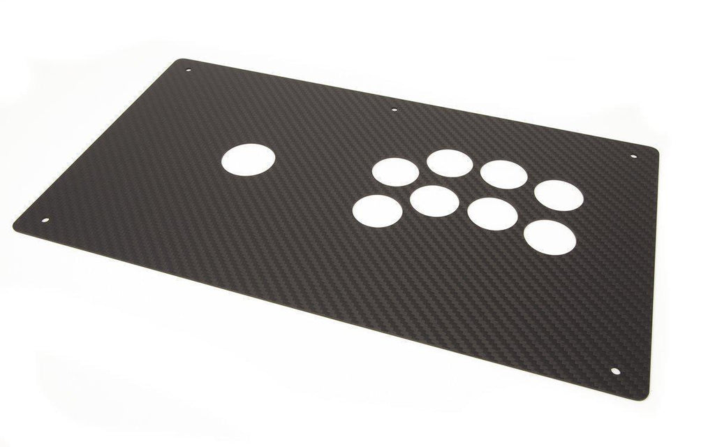 Panzer Fight Stick 3i - Carbon Fiber Overlay (Korean Lever)-Carbon Fiber-www.JasensCustoms.com-Jasen's Customs