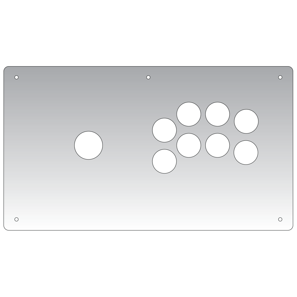 Panzer Fight Stick 3i - Plexi Overlay-Plexi-Jasen's Customs - Plexi Shop-Japanese Lever-Jasen's Customs