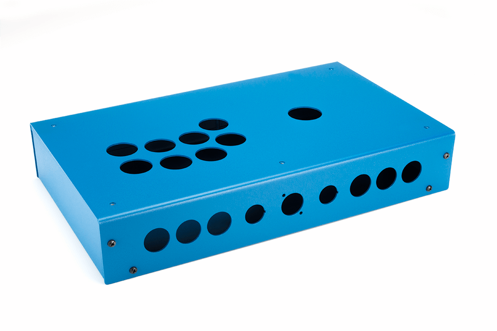 Panzer Fight Stick 3i [SOUTHPAW]- Case Only-Panzer Fight Stick-Jasen's Customs - Metal Shop-Blue Sandtex-Jasen's Customs