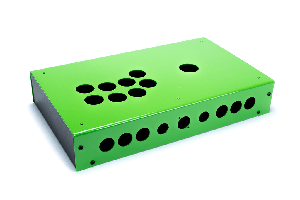 Panzer Fight Stick 3i [SOUTHPAW]- Case Only-Panzer Fight Stick-Jasen's Customs - Metal Shop-Emerald Two Tone-Jasen's Customs