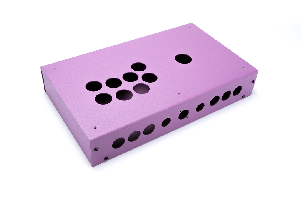 Panzer Fight Stick 3i [SOUTHPAW]- Case Only-Panzer Fight Stick-Jasen's Customs - Metal Shop-Purple Sandtex-Jasen's Customs