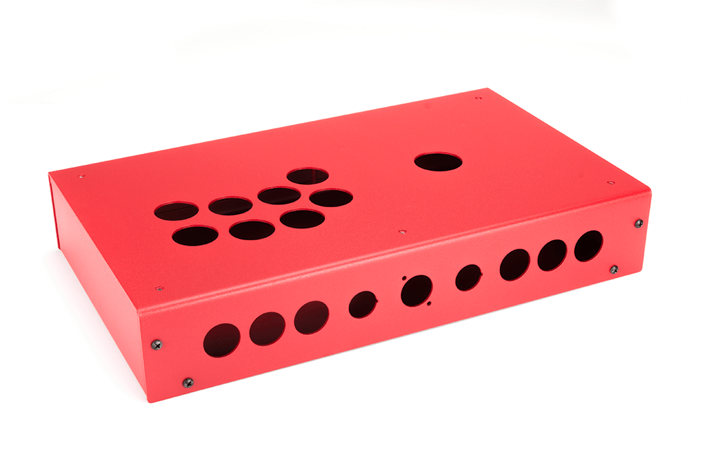 Panzer Fight Stick 3i [SOUTHPAW]- Case Only-Panzer Fight Stick-Jasen's Customs - Metal Shop-Red Sandtex-Jasen's Customs