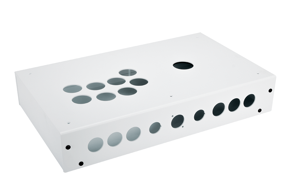 Panzer Fight Stick 3i [SOUTHPAW]- Case Only-Panzer Fight Stick-Jasen's Customs - Metal Shop-White Sandtex-Jasen's Customs