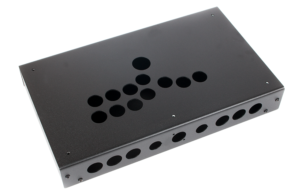 Panzer Fight Stick Aluminium Hitbox - Case Only-Black Sandtex-Jasen's Customs