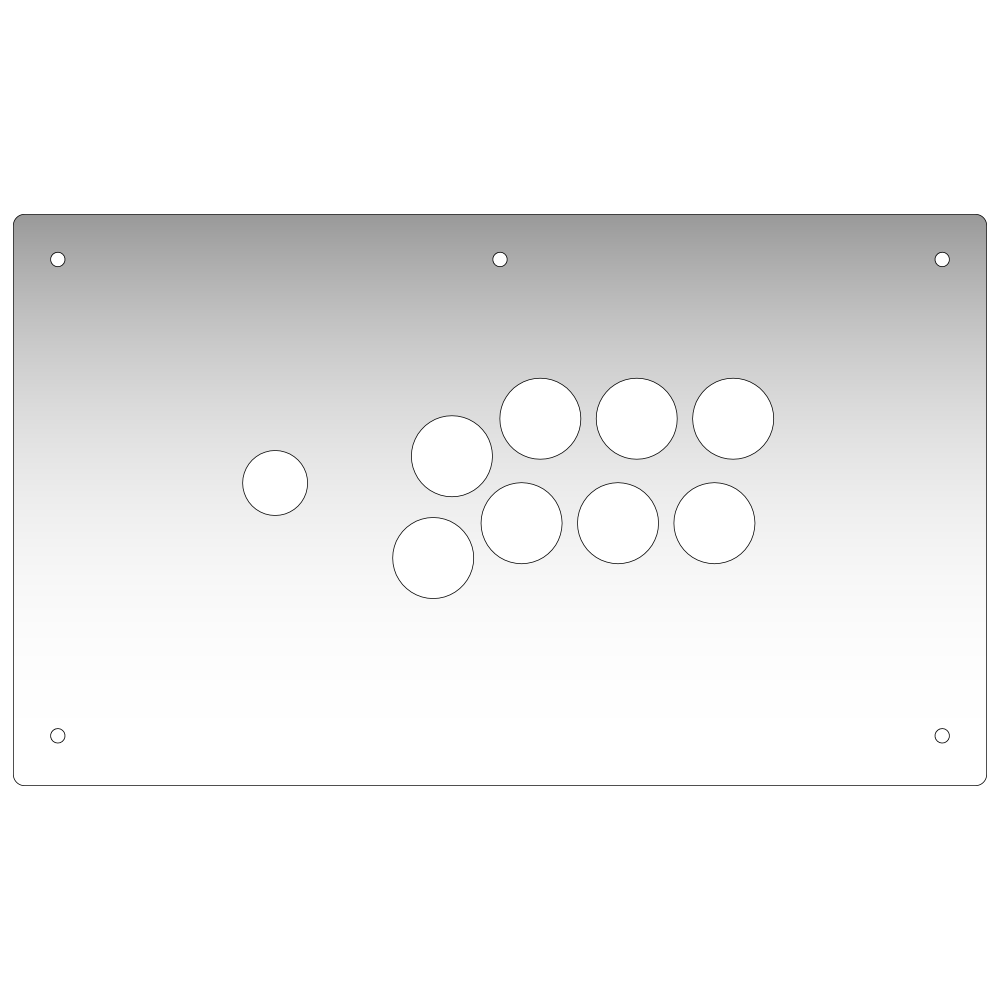 Panzer Fight Stick Aluminium - Plexi Overlay-Plexi-Jasen's Customs - Plexi Shop-Jasen's Customs