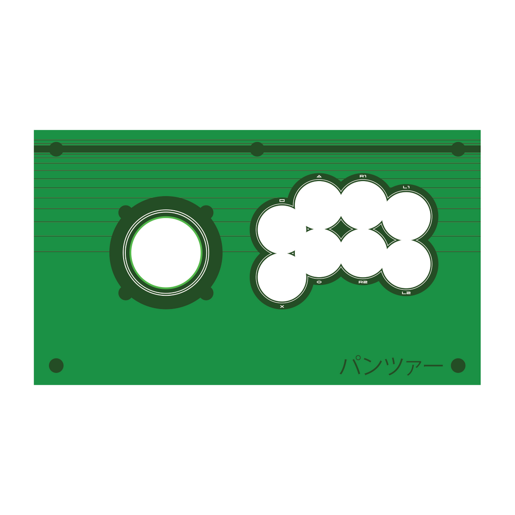 Panzer Fight Stick Printed Plexi Overlay - Green Vewlix Design-Jasen's Customs - Print Shop-Jasen's Customs