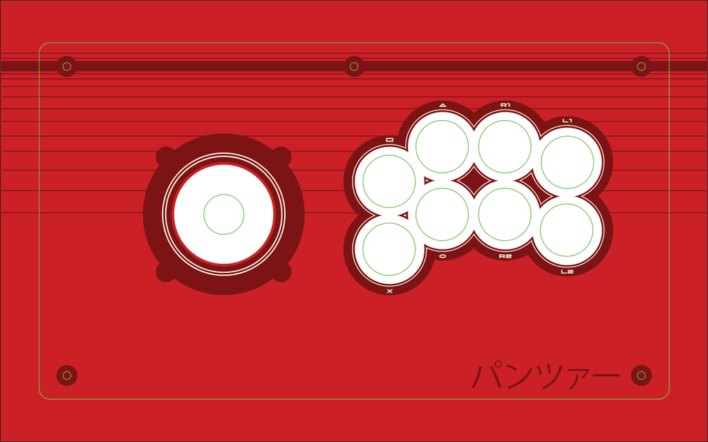 Panzer Fight Stick Printed Plexi Overlay - Red Vewlix Design-Jasen's Customs - Print Shop-Jasen's Customs