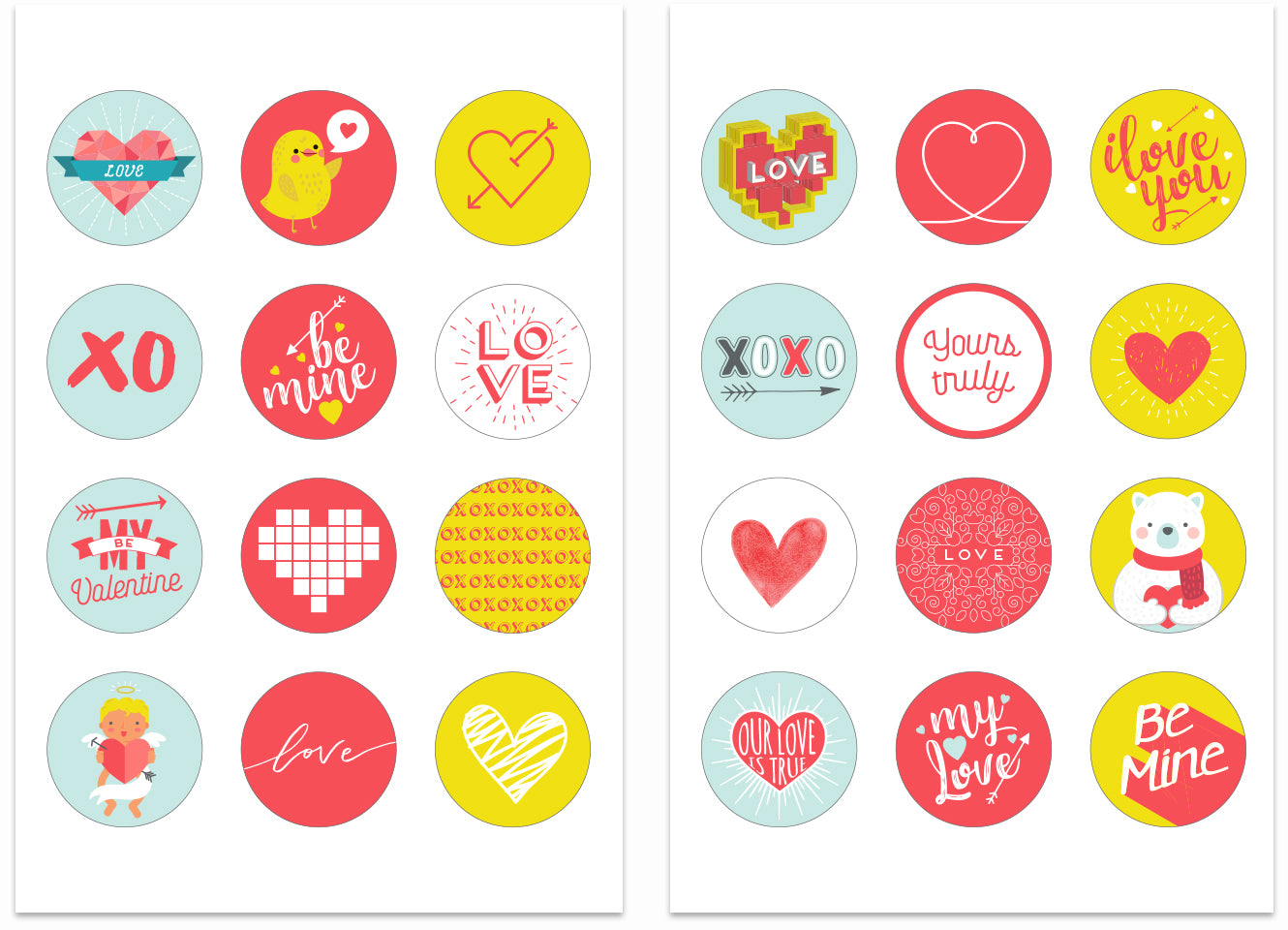 Zoe Organics Printable Stickers