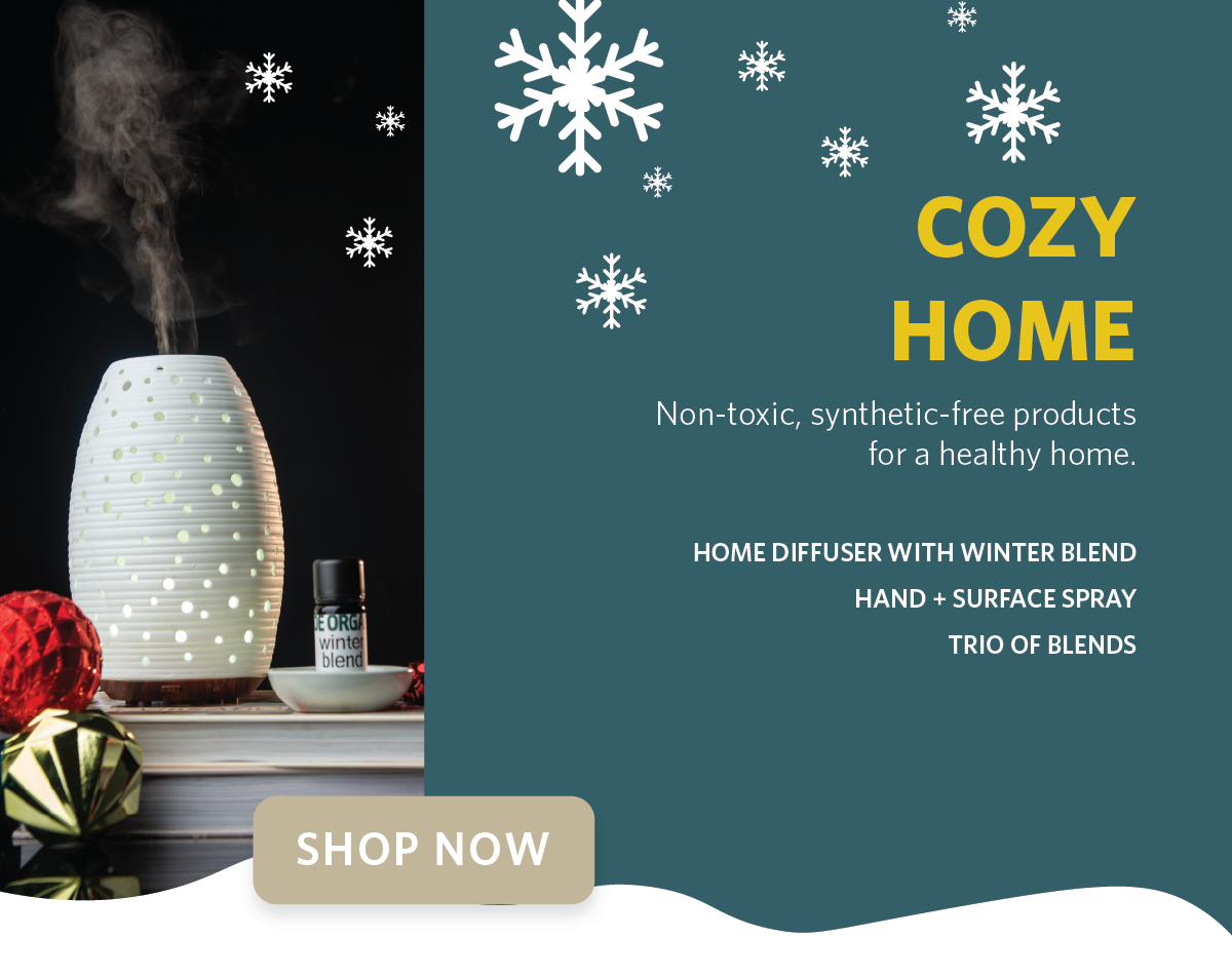 Zoe Organics Holiday Gift Guide for the Cozy Home
