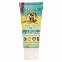 Badger Active Zinc Oxide Sunscreen Cream