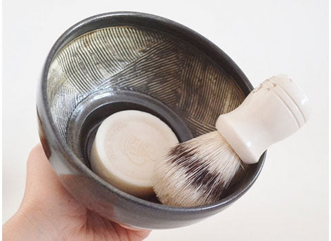 Handthrown Stoneware Shaving Mug