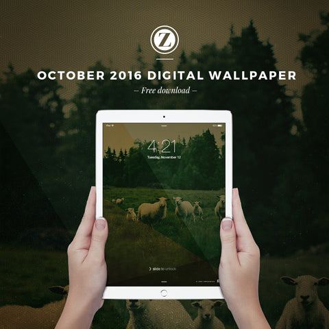 October 2016 Digital Wallpaper  |  Free Download