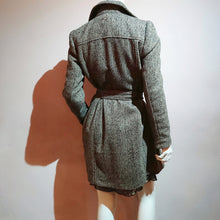 Load image into Gallery viewer, Double-Breasted Herringbone Trench Coat - boutique-hanaya