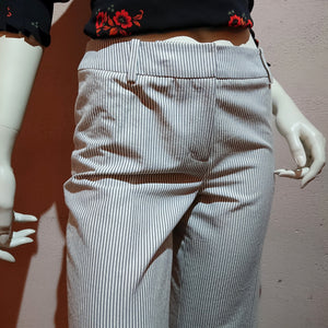 Wide Pants with Striped printed made in JAPAN - boutique HANAYA