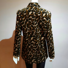Load image into Gallery viewer, Corduroy Leopard Double-breasted Jacket