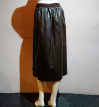 Load image into Gallery viewer, Faux Leather Skirt with Slit