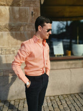 Load image into Gallery viewer, Linen shirt orange