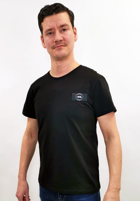Skoter badge t-shirt slim fit svart