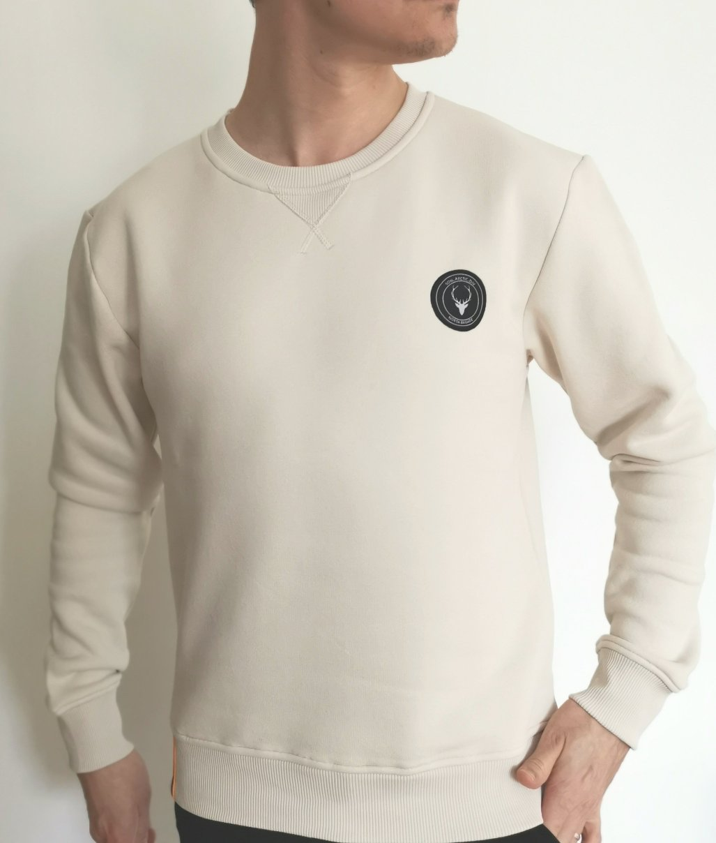 Sweatshirt sandvit slim fit