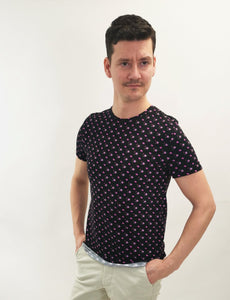 Blommig t-shirt slim fit