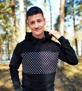 Skoter luvtröja slim fit
