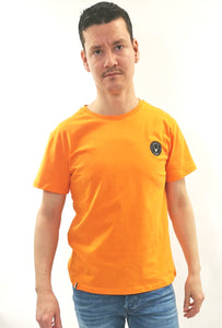 Orange t-shirt slim fit