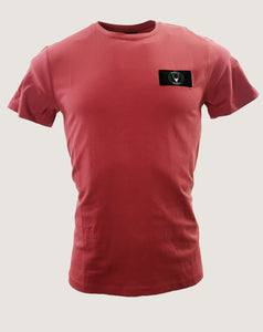SON badge t-shirt slim fit red